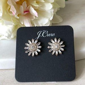 🌸New JCrew Crystal Stud Earrings